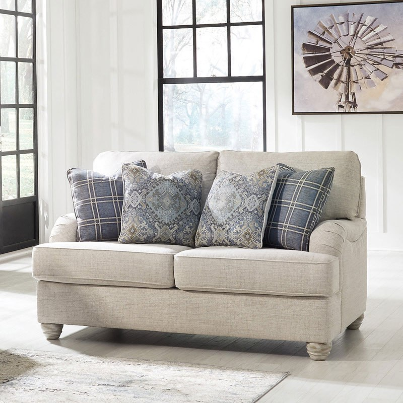 Loveseat And Chair And A Half With Ottoman Set