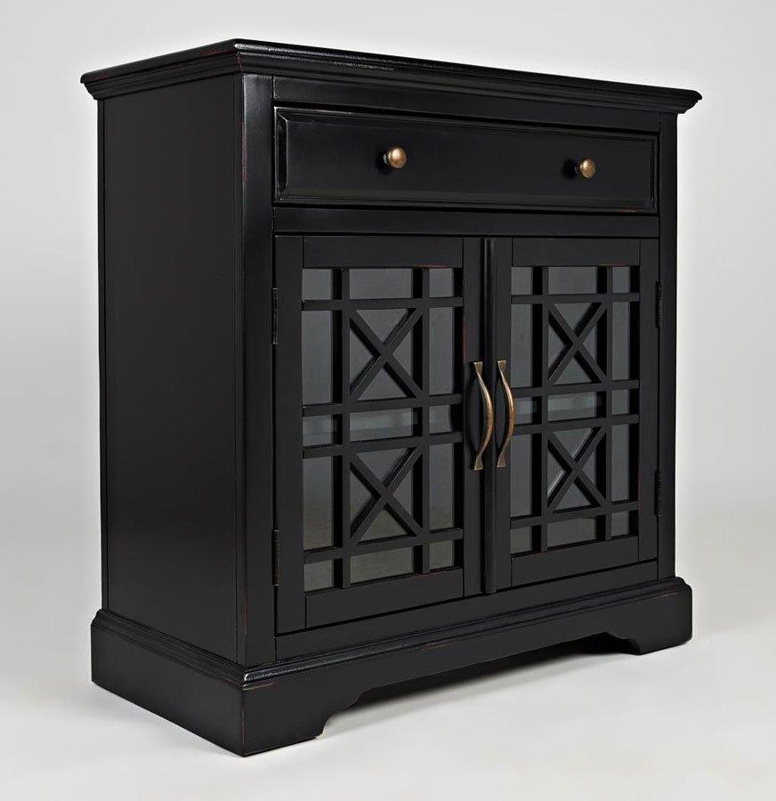 Craftsman 32 Inch Accent Cabinet (Antique Black) - Craftsman 32 Inch Accent Cabinet (Antique Black) Jofran Furniture