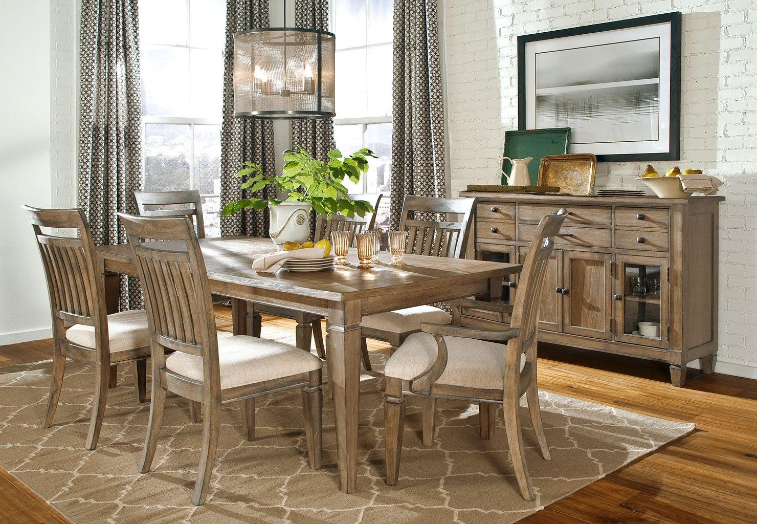 Brownstone Village Leg Dining Set W Slat Chairs Legacy Classic Furniture Cart