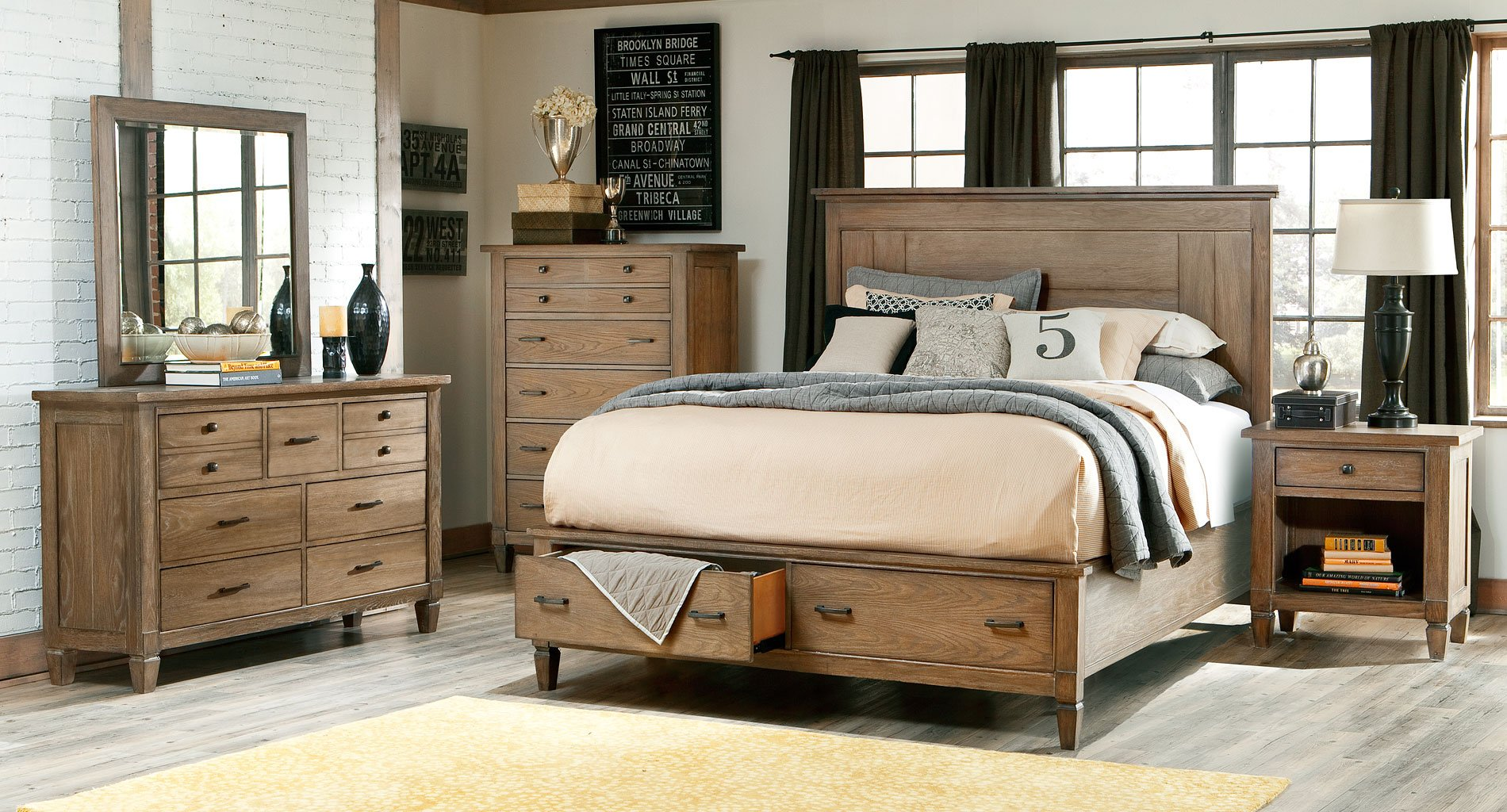 Brownstone village storage bedroom set legacy classic - Furniture village bedroom furniture ...