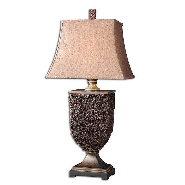 Knotted Rattan Table Lamp