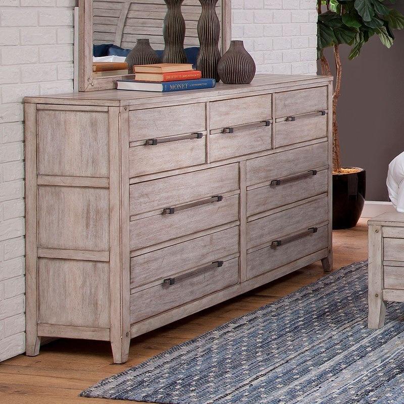 Aurora Dresser (Whitewash) American Woodcrafters