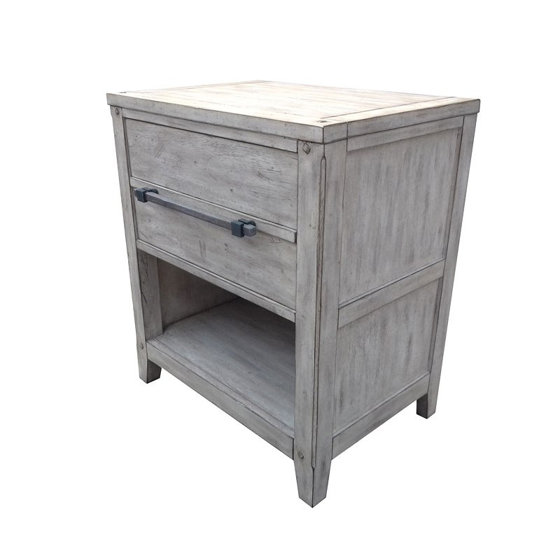 American Family Furniture Aurora Co: Aurora Nightstand (Whitewash) American Woodcrafters