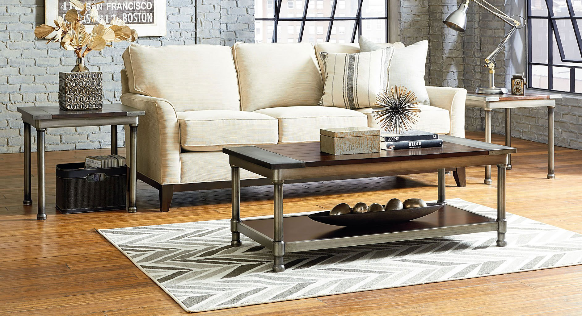 Hudson 3 Piece Occasional Table Set Standard Furniture Furniture Cart