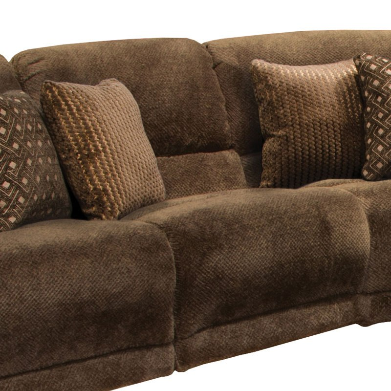 Ashley Furniture In Burbank: Burbank Lay Flat Reclining Sectional W/ Chaise (Chocolate