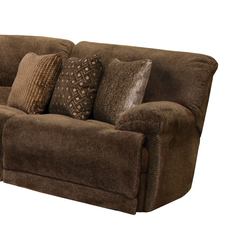 Ashley Furniture In Burbank: Burbank Lay Flat Reclining Sectional (Chocolate) Catnapper