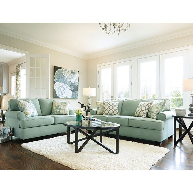 daystar seafoam living room set signature design 6 reviews furniture cart