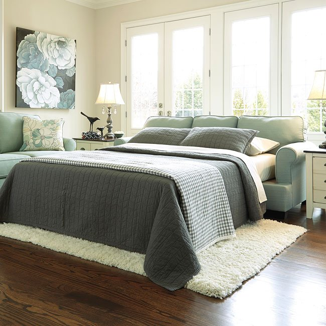 Daystar Seafoam Queen Sofa Sleeper