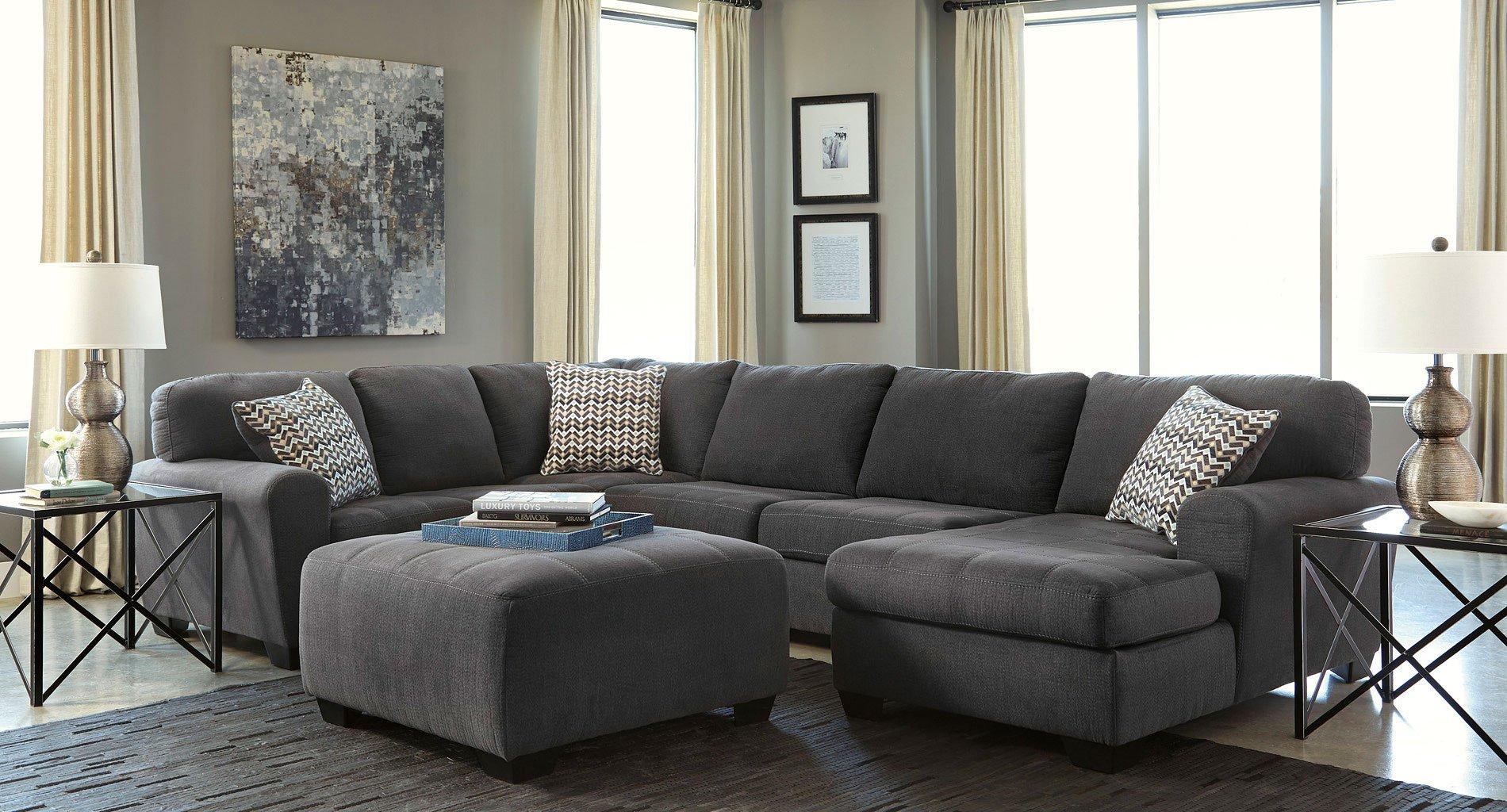 Sorenton Slate Sectional Living Room Set Benchcraft