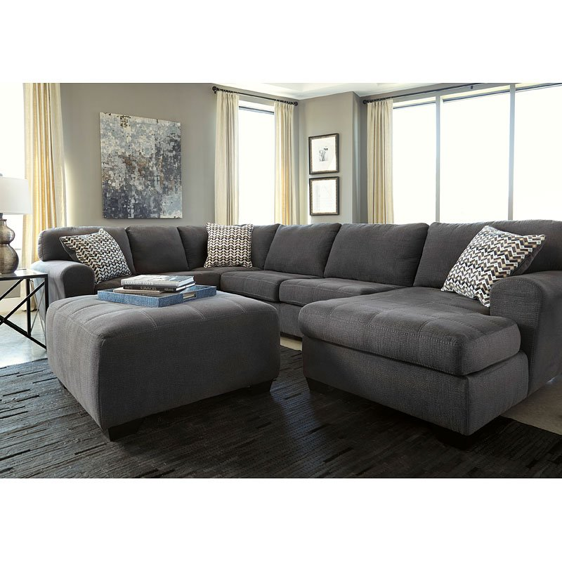 Sorenton Slate Sectional Living Room Set