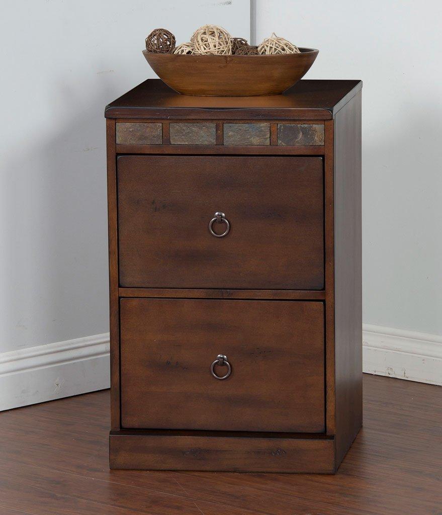Santa fe 2 drawers file cabinet sunny designs furniture cart