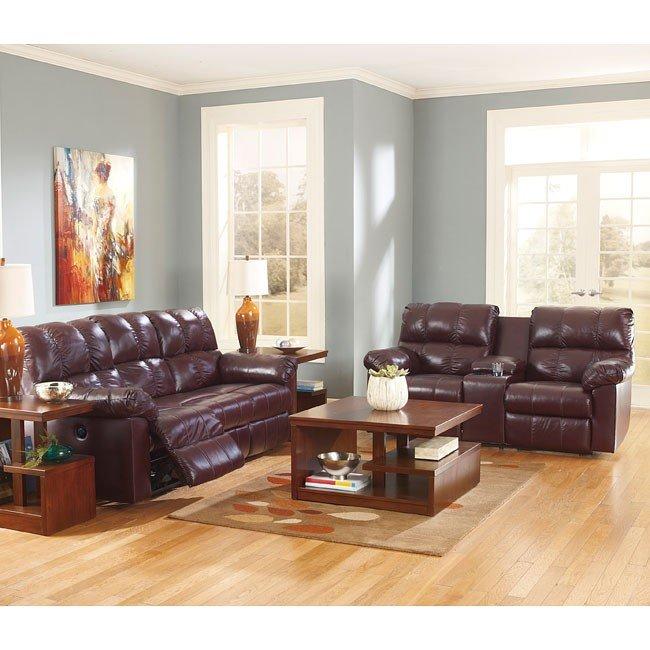 Kennard Burgundy Living Room Set Signature Design 1 Reviews Furniture Cart