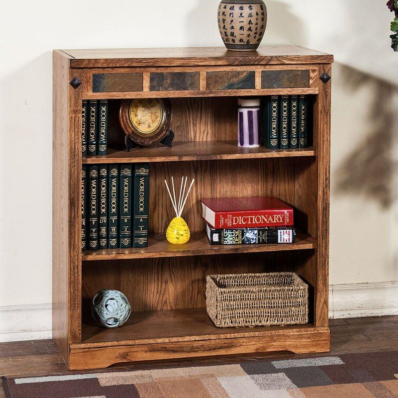 Sedona 36 Inch Height Bookcase Sunny Designs Furniture Cart