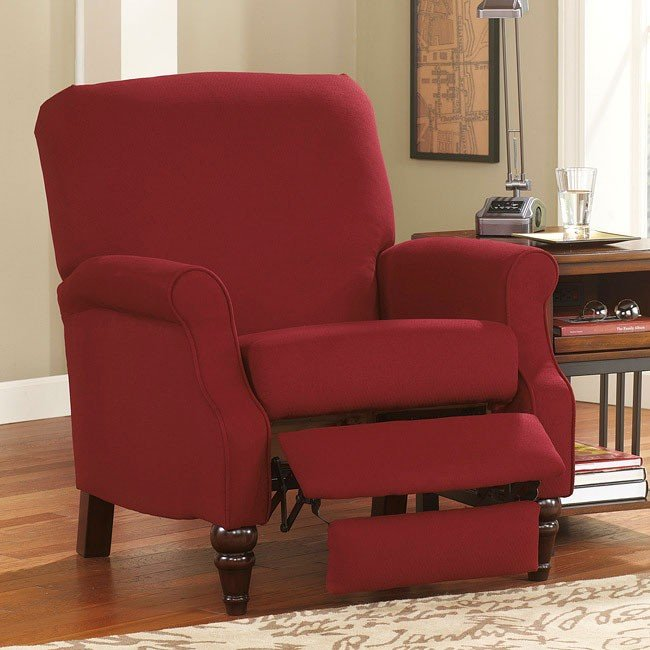 Bromwich Crimson High Leg Recliner