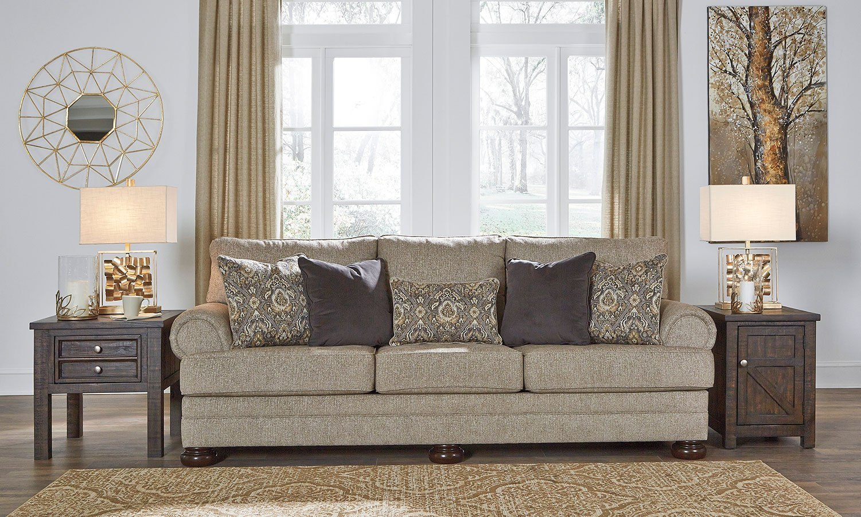Kananwood Oatmeal Sofa Signature Design Furniture Cart