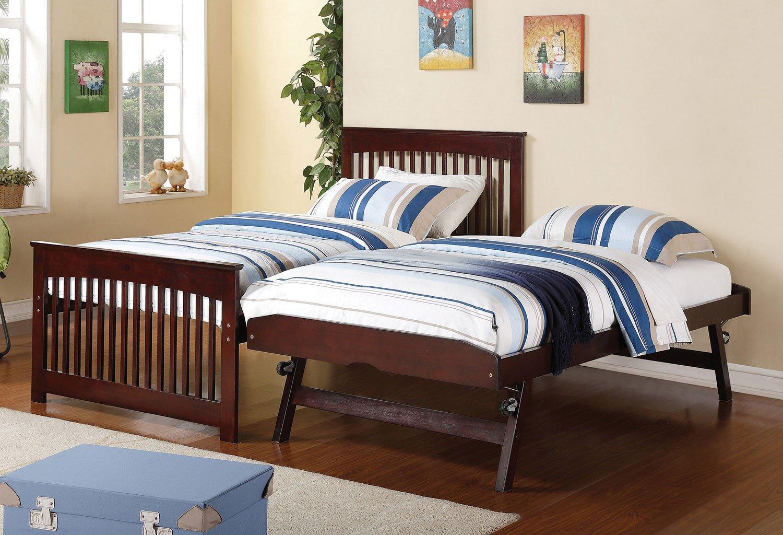 Salinas twin bed w pop up trundle coaster furniture furniture cart