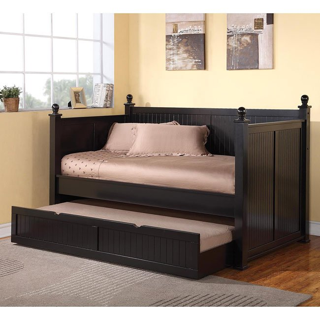 Classic Black Twin Daybed w/ Trundle