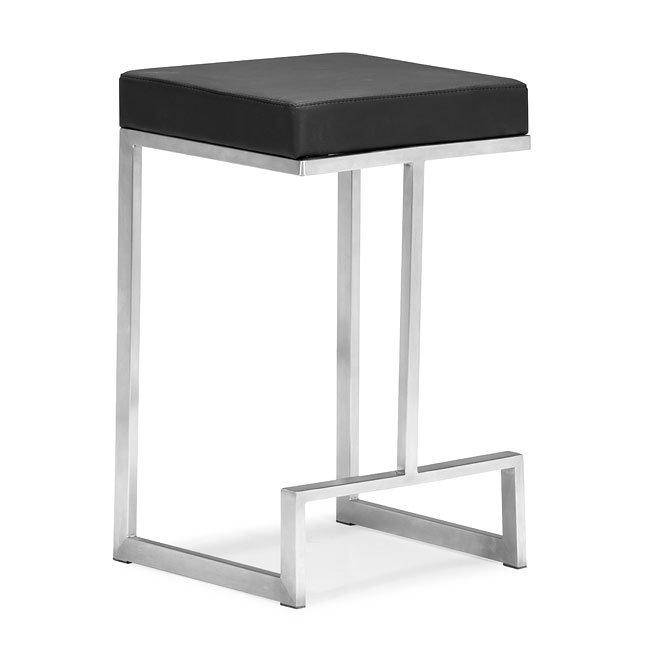 Darwen Counter Chair Black Set Of 2 Zuo Modern