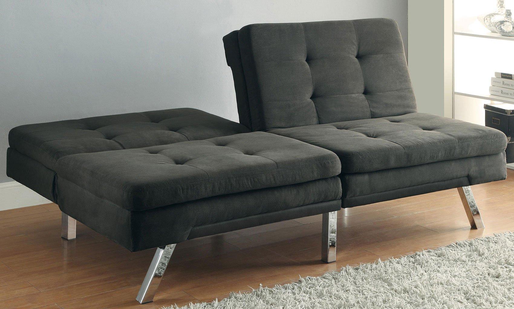 Charcoal Pillow Top Sofa Bed W Split