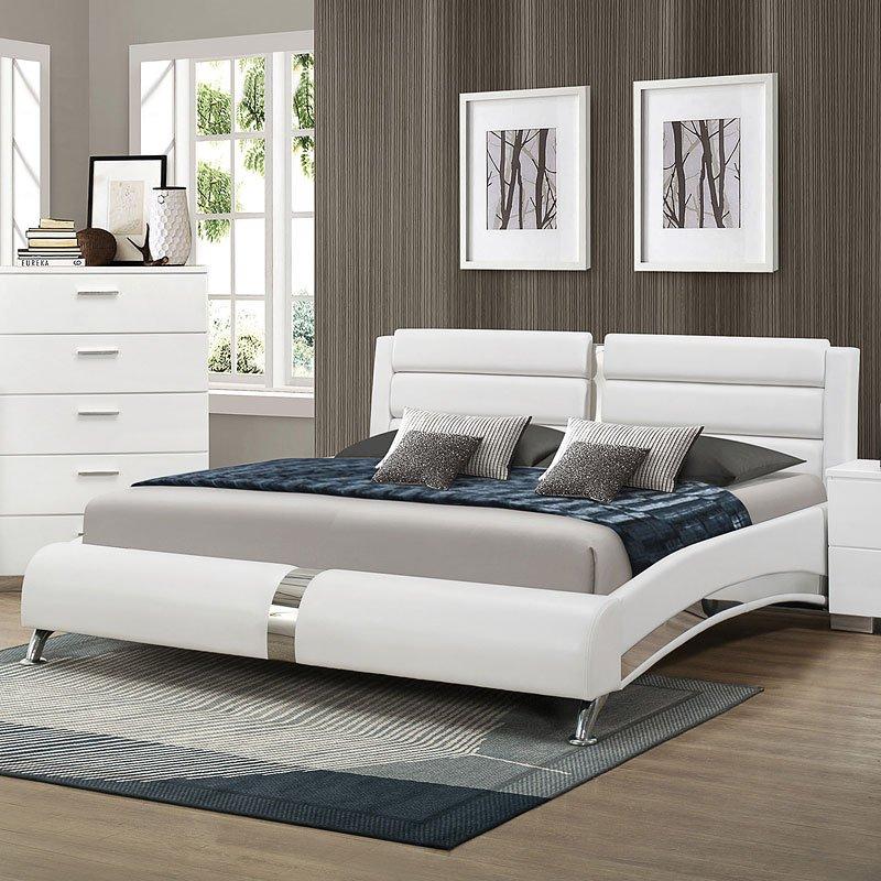 Jeremaine Upholstered Bed (White)