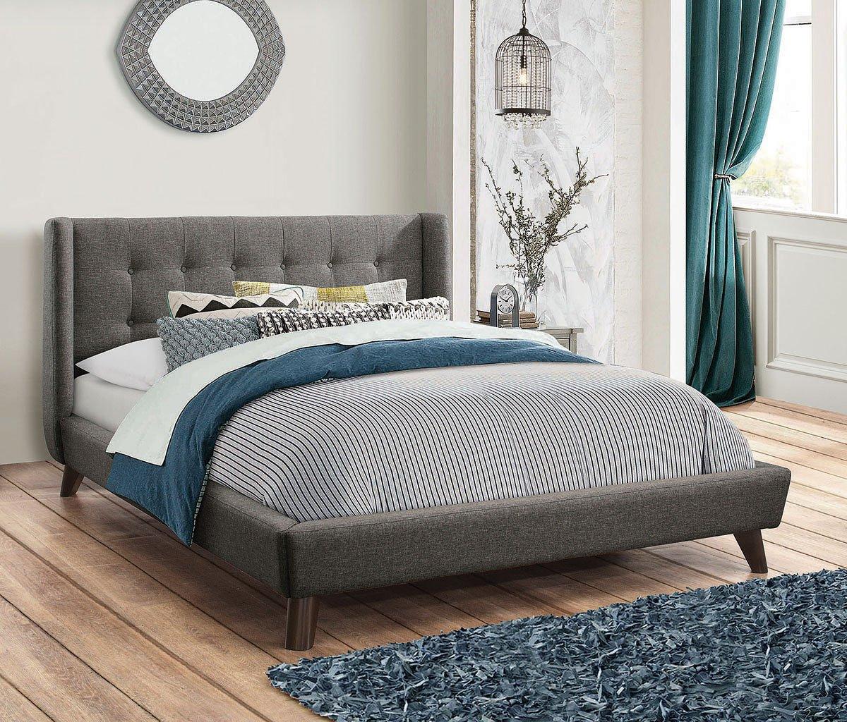 Carrington Upholstered Bed Coaster Furniture Furniture Cart - Carrington bedroom furniture