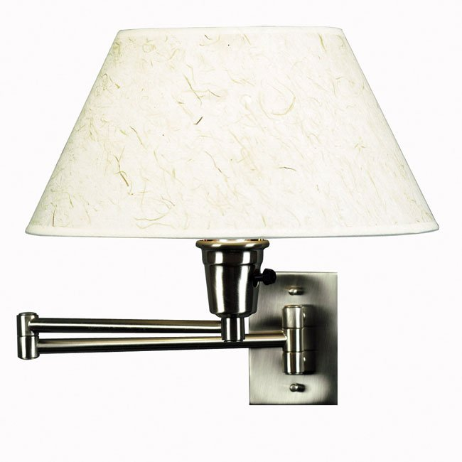 Simplicity Wall Swing Arm Lamp (Brushed Steel)