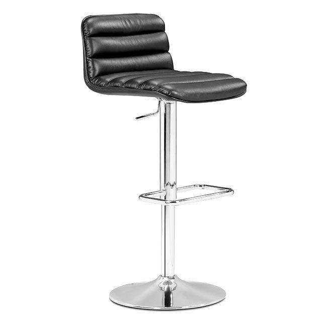Nitro Barstool Black Zuo Modern Furniture Cart