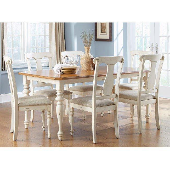 Ocean Isle Dining Room Set w/ Splat Back Chairs