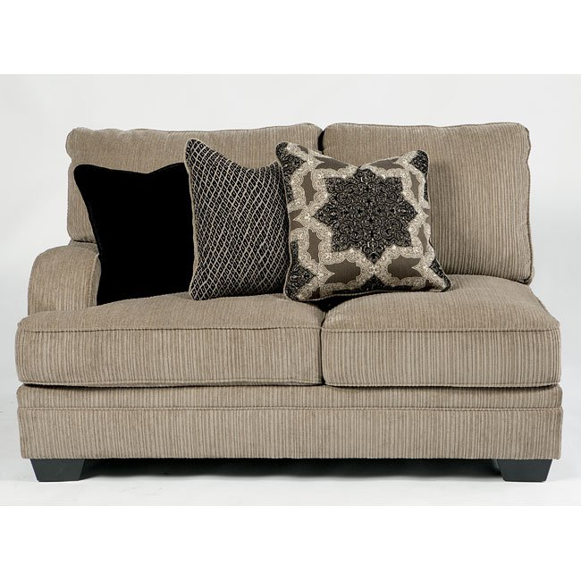 Modular Sectional Sofa Ashley: Katisha Platinum Small Modular Sectional W/ Cuddler
