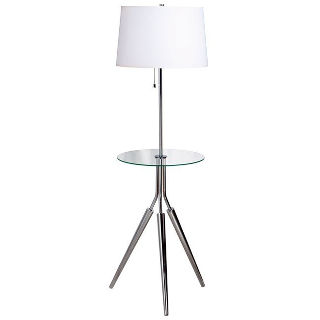 Rosie Floor Lamp w/ Tray (Chrome)