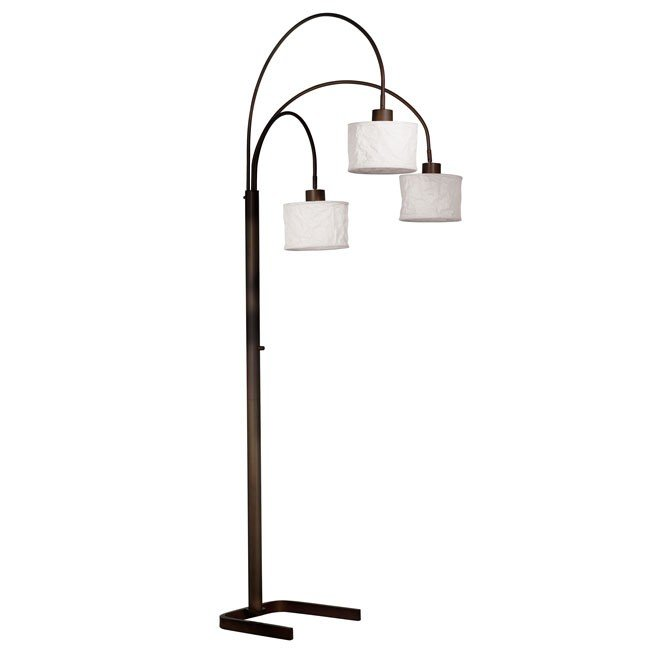 Crush 3 Light Arc Lamp (Oil Rubbed Bronze)
