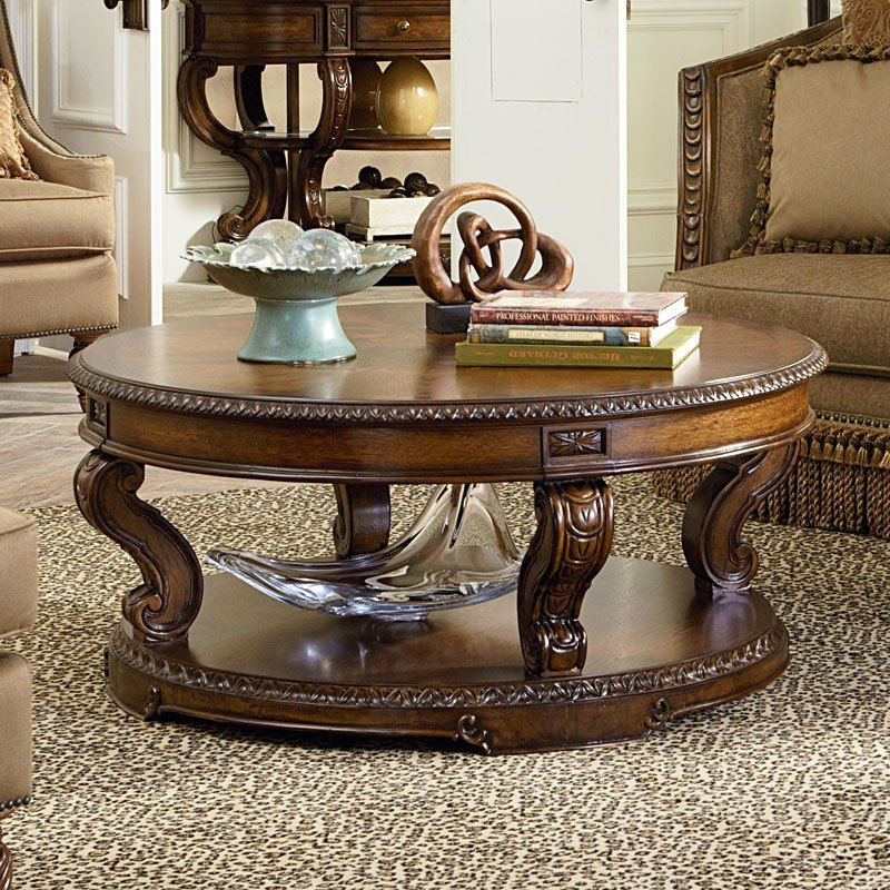 Round Coffee Table With Chairs.Pemberleigh Round Cocktail Table