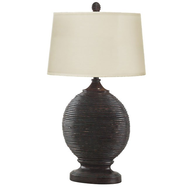 St. Maarten Table Lamp (Verde Rattan)