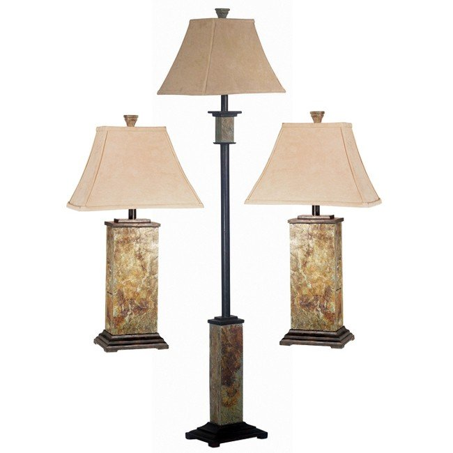 Bennington 3 Pack Lamp Set (Slate)