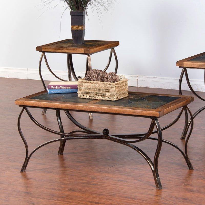 Slate Outdoor Coffee Table: Sedona Slate/Metal Coffee Table Sunny Designs
