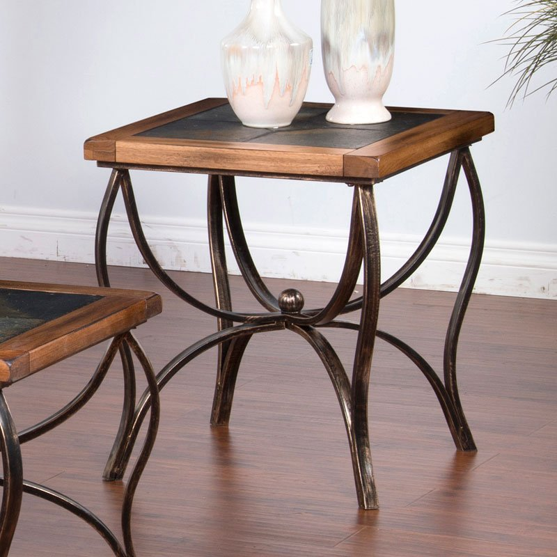 Sedona Slate/Metal End Table