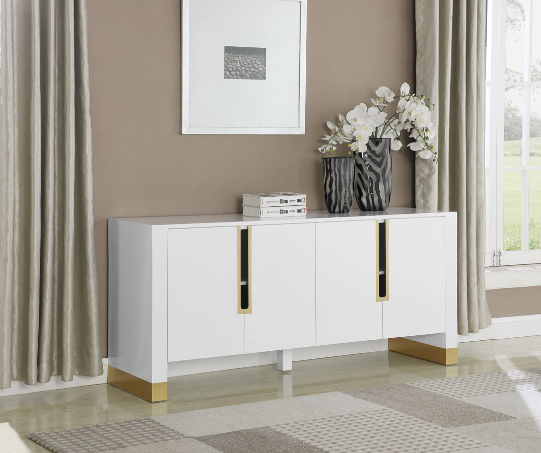 Florence Sideboard/ Buffet (White) Meridian Furniture