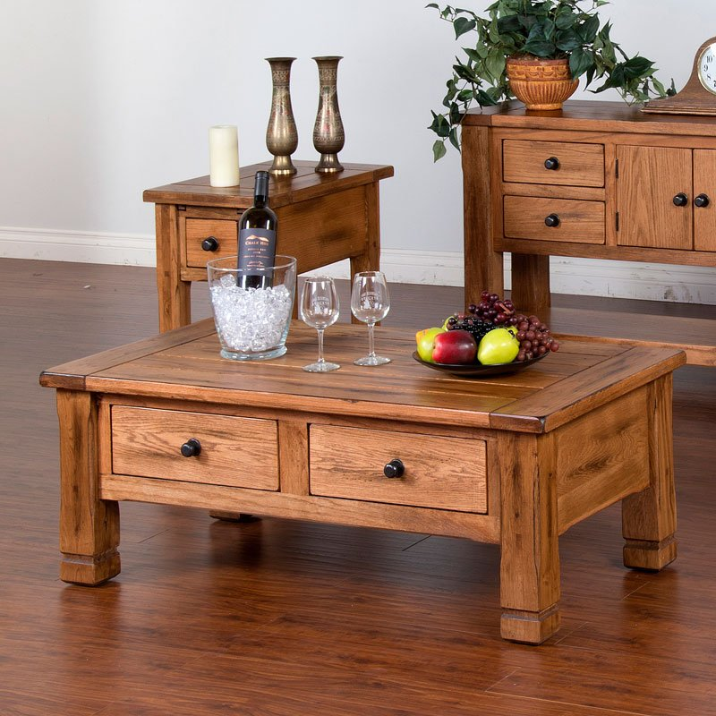 Sedona Rectangular Coffee Table Sunny Designs | Furniture Cart