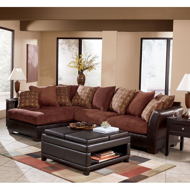 Larson - Cinnamon Sectional Living Room Set