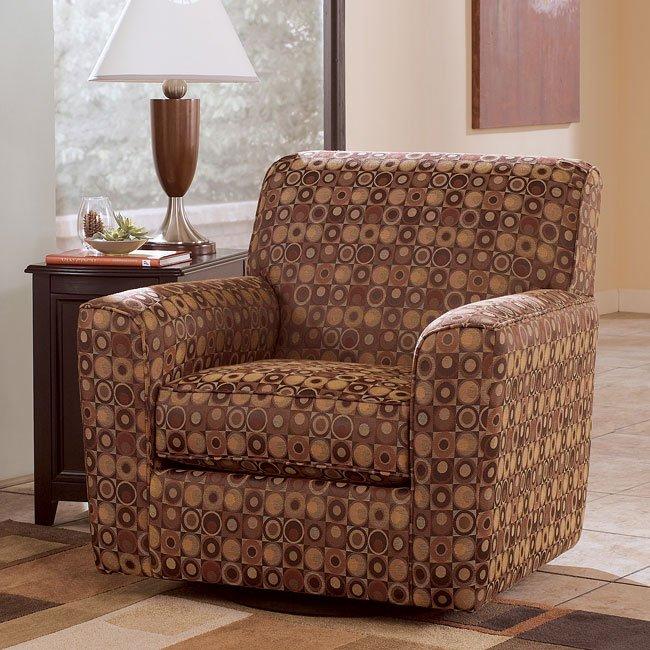 Larson - Cinnamon Swivel Chair