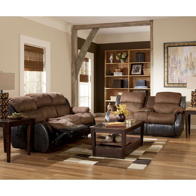 Presley - Espresso Reclining Living Room Set