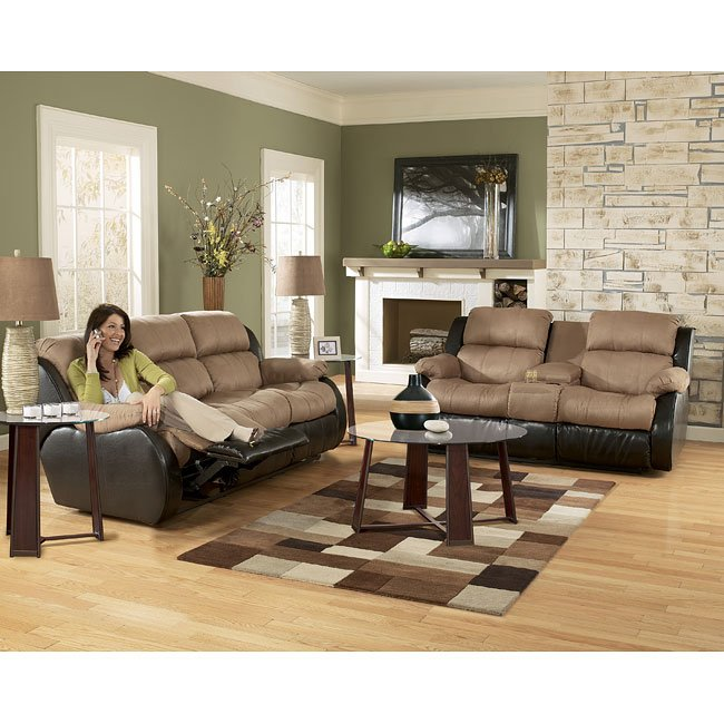 Presley - Cocoa Reclining Living Room Set