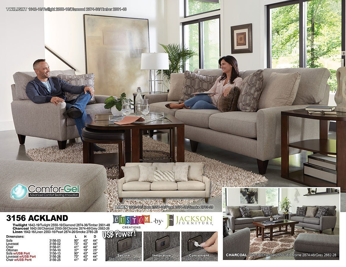 Ackland Living Room Set (Twilight)