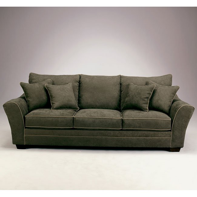 Durapella Basketweave   Olive Sofa