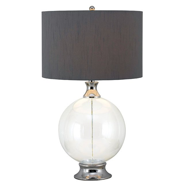 Celestial Table Lamp (Glass with Chrome  Accent)