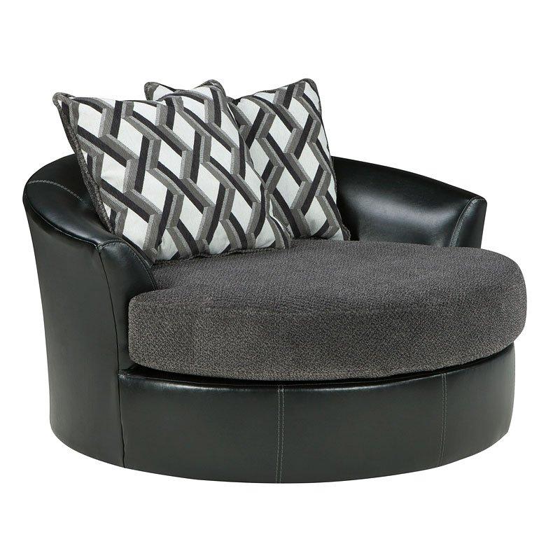 Beau Kumasi Smoke Oversized Swivel Chair