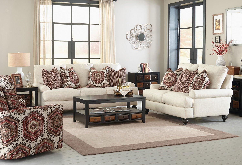 Westchester Living Room Set (Chilipepper Pillows) Jackson