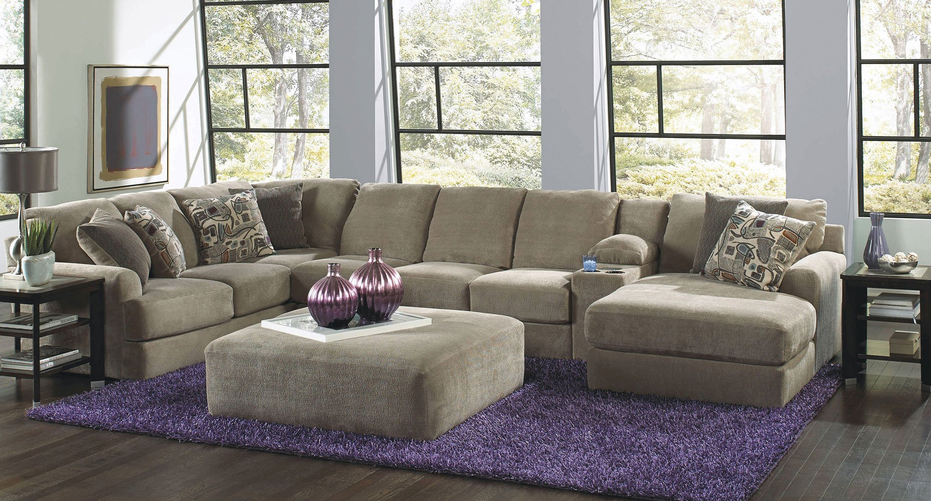 Malibu Modular Sectional Set Taupe Jackson Furniture 2