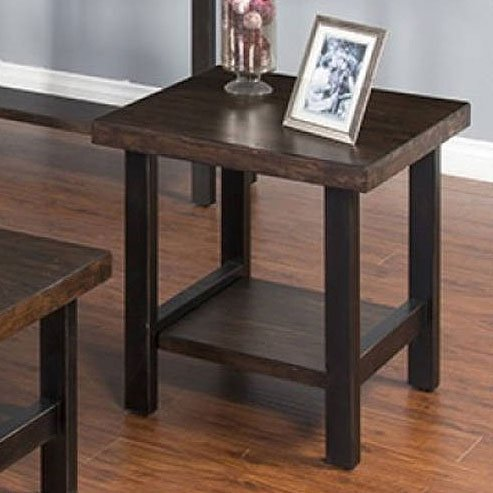 Weathered Pine End Table
