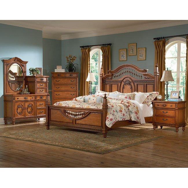 Southern Heritage Chestnut Spindle Bedroom Set Vaughan Furniture Furniture Cart